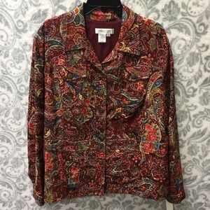 Coldwater Creek paisley multi colored blazer